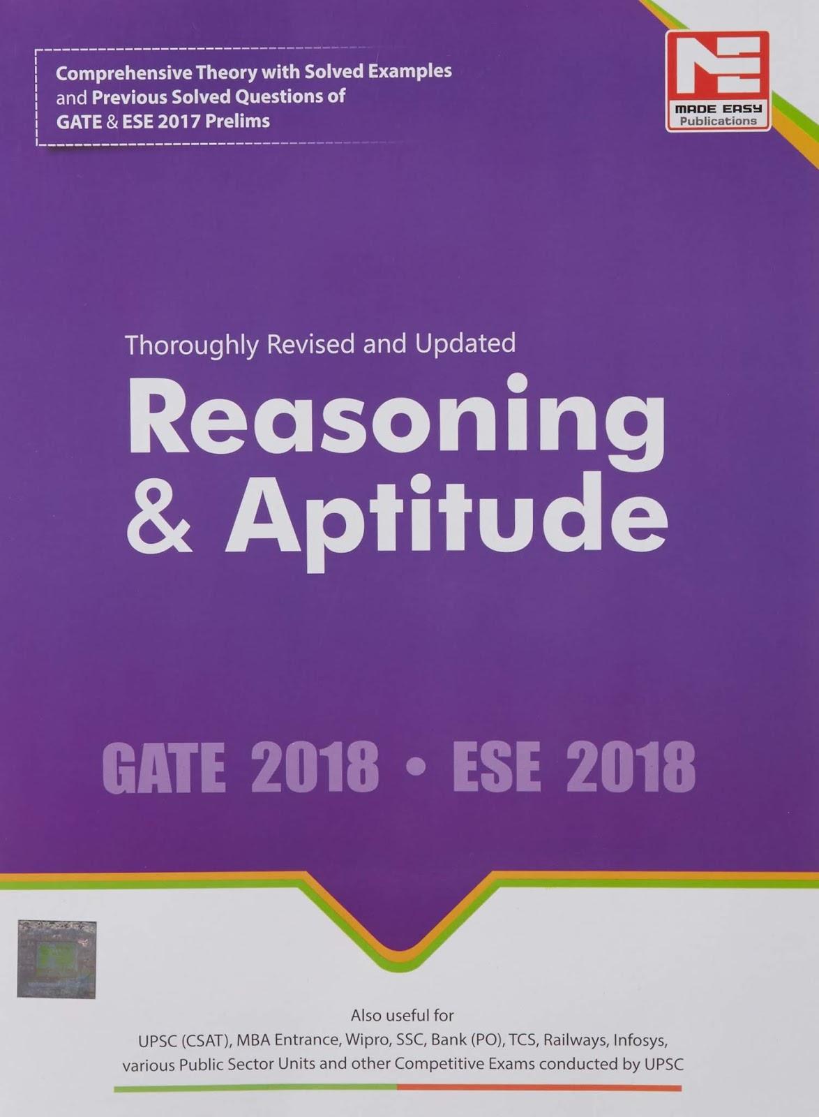 Download Reasoning And Aptitude Made Easy Book Pdf - CG