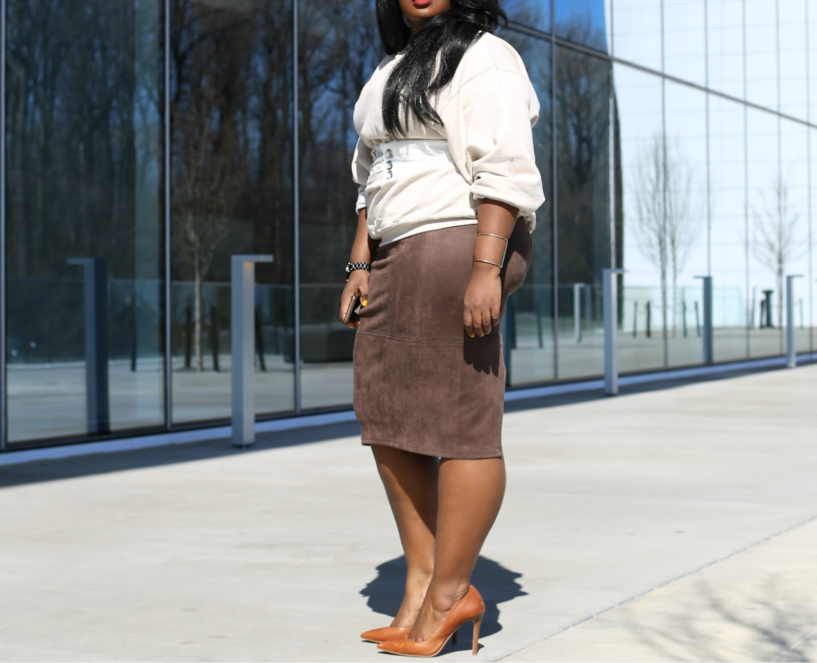 HOW TO WEAR NUDE PLUS SIZE SPRING