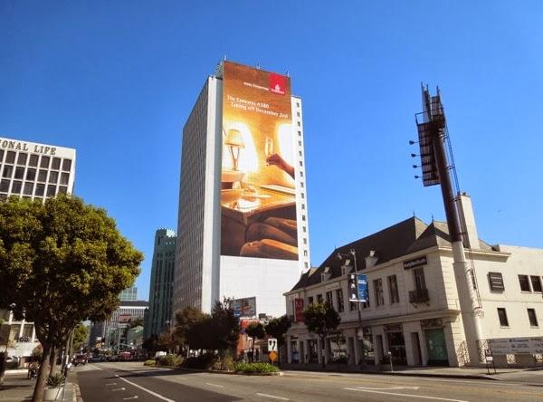 Giant Emirates A380 billboard Wilshire Boulevard