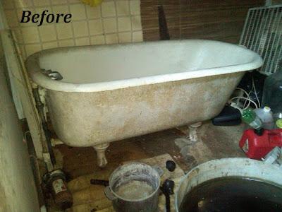 Refinishing The Porcelain Tub Amp Sinks The Bottle That