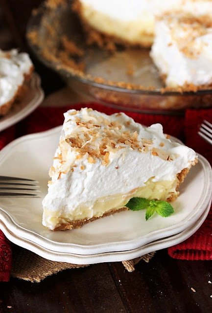 Slice of Coconut Cream Pie Image