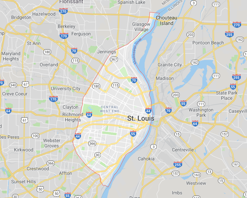 How can you see city limits on Google Maps?