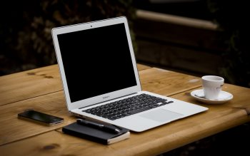 Wallpaper: MacBook Air and iPhone