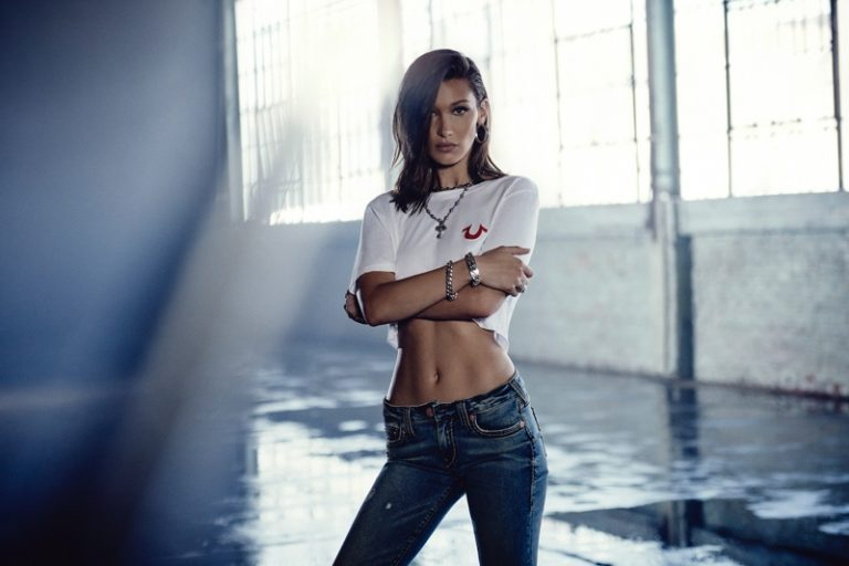 True Religion Fall/Winter 2018 Campaign featuring Bella Hadid