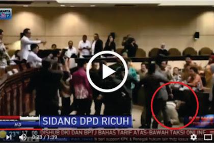 Inilah Video Paling Gempar Ricuh Pejabat Anggota DPD RI di Sidang Paripurna