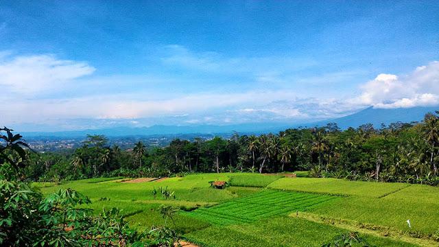 Foto Pemandangan di perjalanan menuju JPN, tampak Kota Tasikmalaya dan Gunung Galunggung.