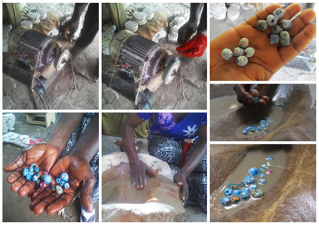 bead making, handmade beads, African craft, Krobo beads