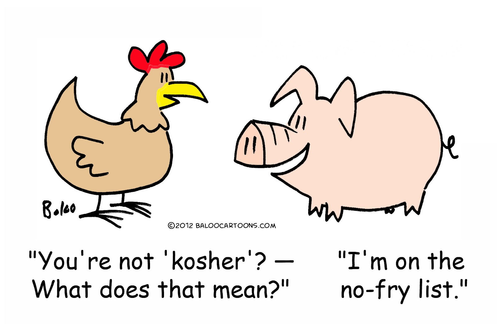 Parable The Pig And Chicken: BALOO'S CARTOON BLOG: Chicken And Pig Cartoon