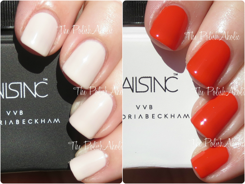 Nails Inc X Victoria Beckham Bamboo White And Judo Red