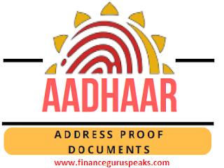 Aadhaar Address Proof Documents