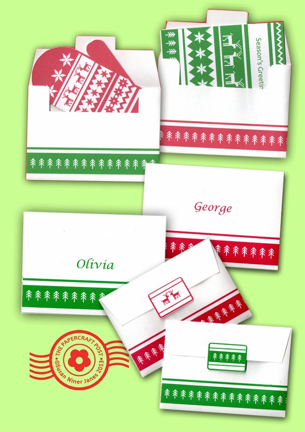 The Papercraft Post Ski Sweater Cards and Envelopes