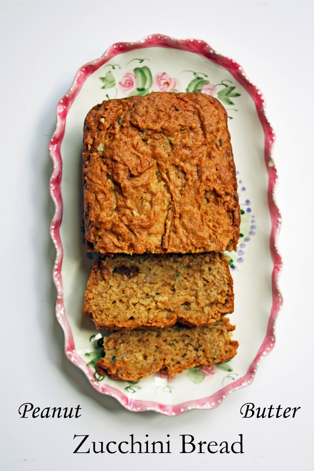 vegan peanut butter zucchini bread with homemade peanut butter chips
