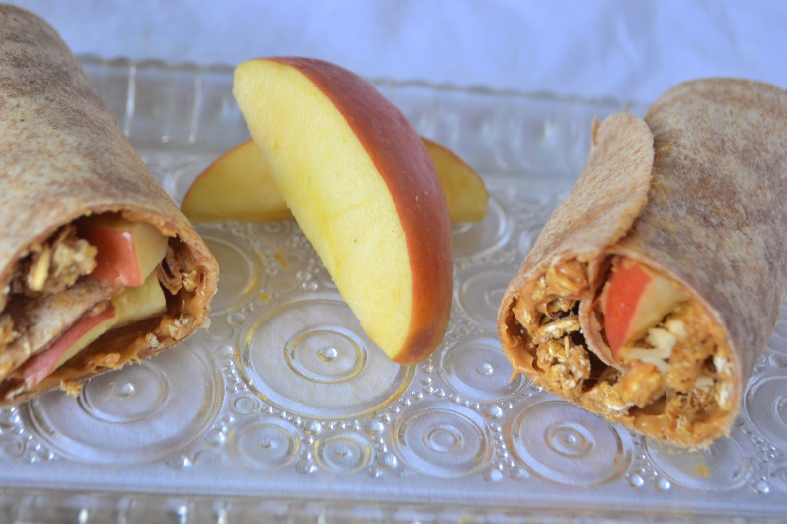 Peanut Butter, Granola and Apple Wrap