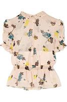 Блузка из шифона с цветочным принтом