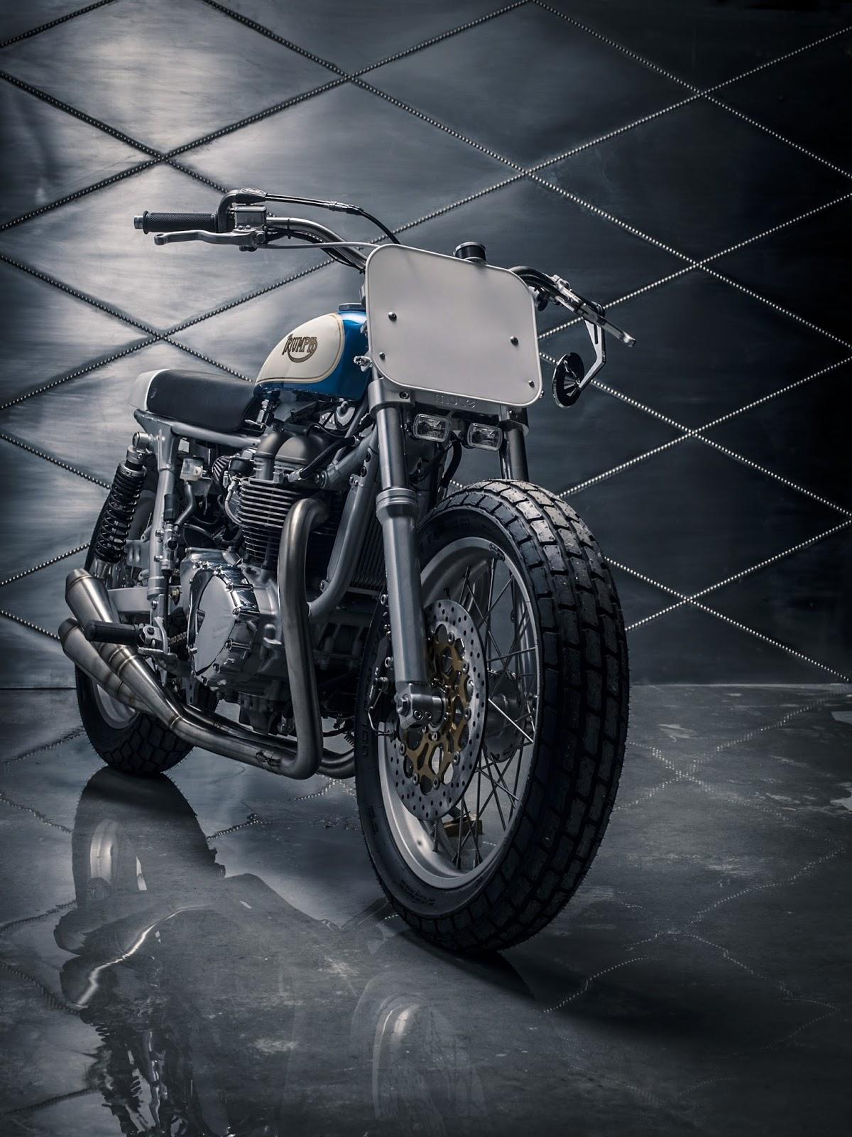 Triumph Bonneville Modified To Classic Tracker Mule Motorcycles
