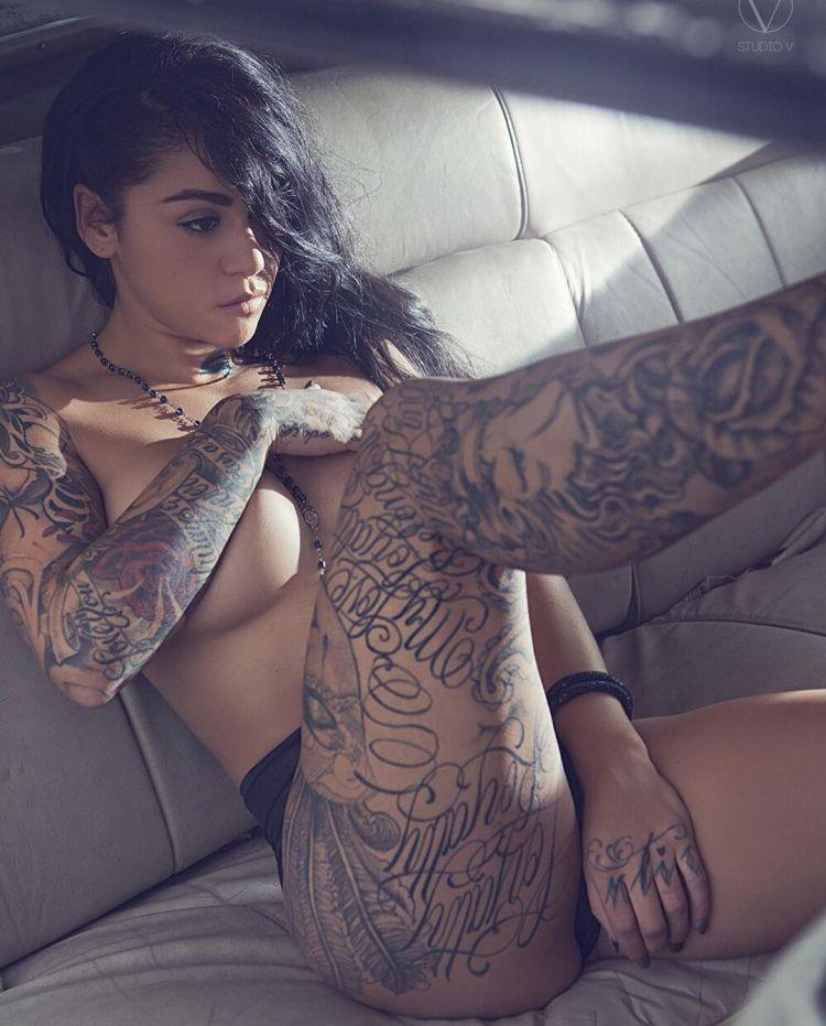 Tattoo model Kaylee