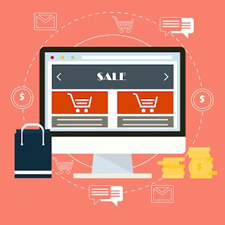 ordenador con página abierta de una tienda online