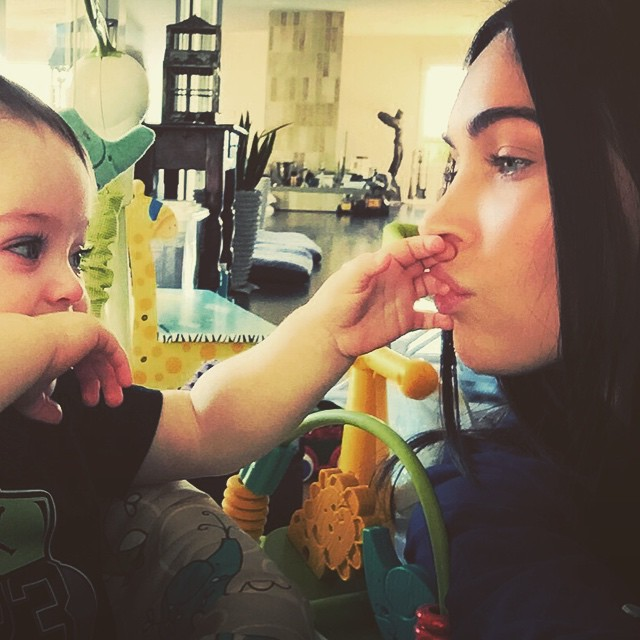 Megan-Fox-with-her-baby-on-Instagram