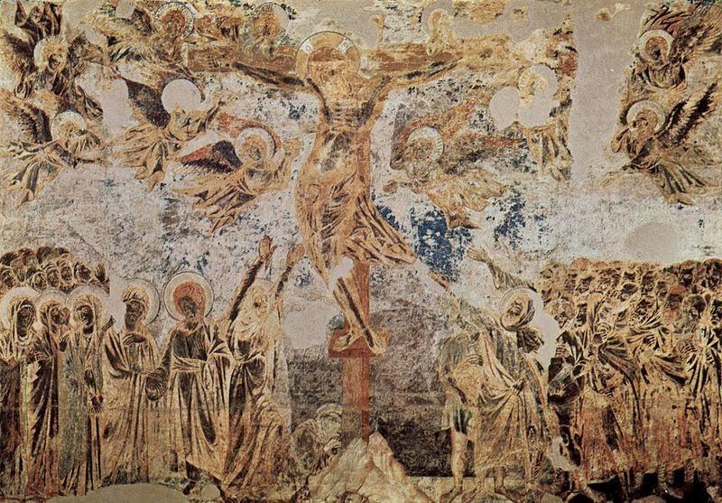 A Crucificação - Giovanni Cimabue e suas pinturas ~ O criador de mosaicos
