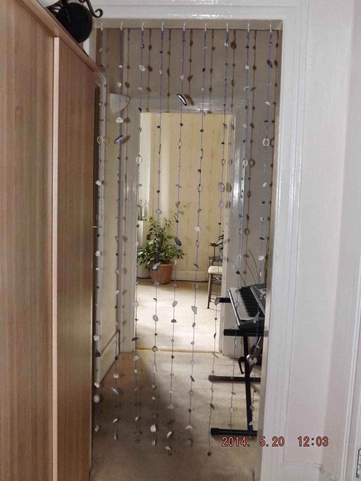 Kagylófüggöny a szobában