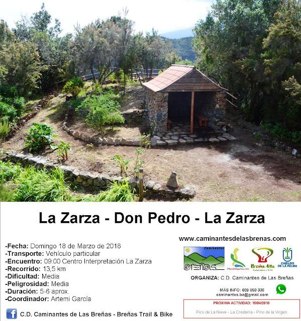 Caminantes de Las Breñas, Domingo 18 de marzo: Circular La Zarza