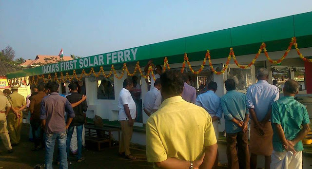 aditya - first solar ferry serivce in india is now at keralas backwaters