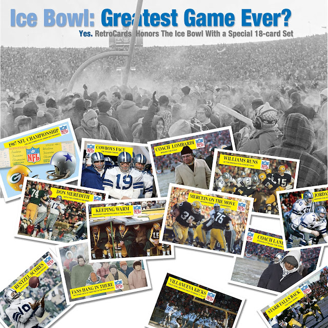 Topps, 1967 NFL Championship, Ice Bowl, Green Bay Packers, Lambeau Field, Dallas Cowboys