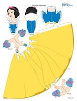 бумажная кукла, принцессы диснея