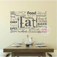 vinilo decorativo cocina tipografico eat comer