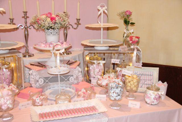 ankerwerfer hochzeit deko und candy bar in rosa und creme. Black Bedroom Furniture Sets. Home Design Ideas