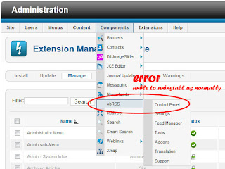Fix Problem Joomla Component Unable uninstalled