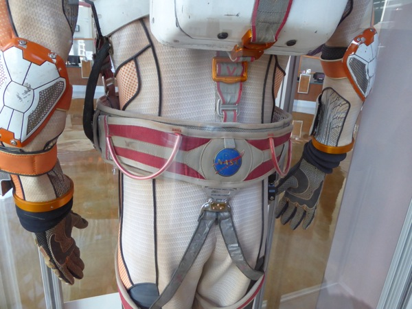 The Martian NASA spacesuit costume detail