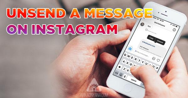Cara Menghapus Pesan Sudah Terkirim di Instagram Direct Message