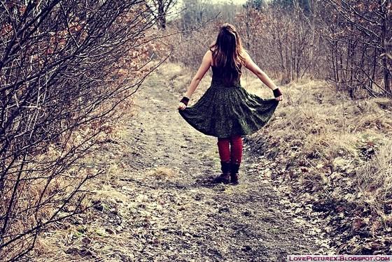 Alone, Girl, Beautiful, Sad, Gothic, Dp, Cute  Lovepicturex-4610