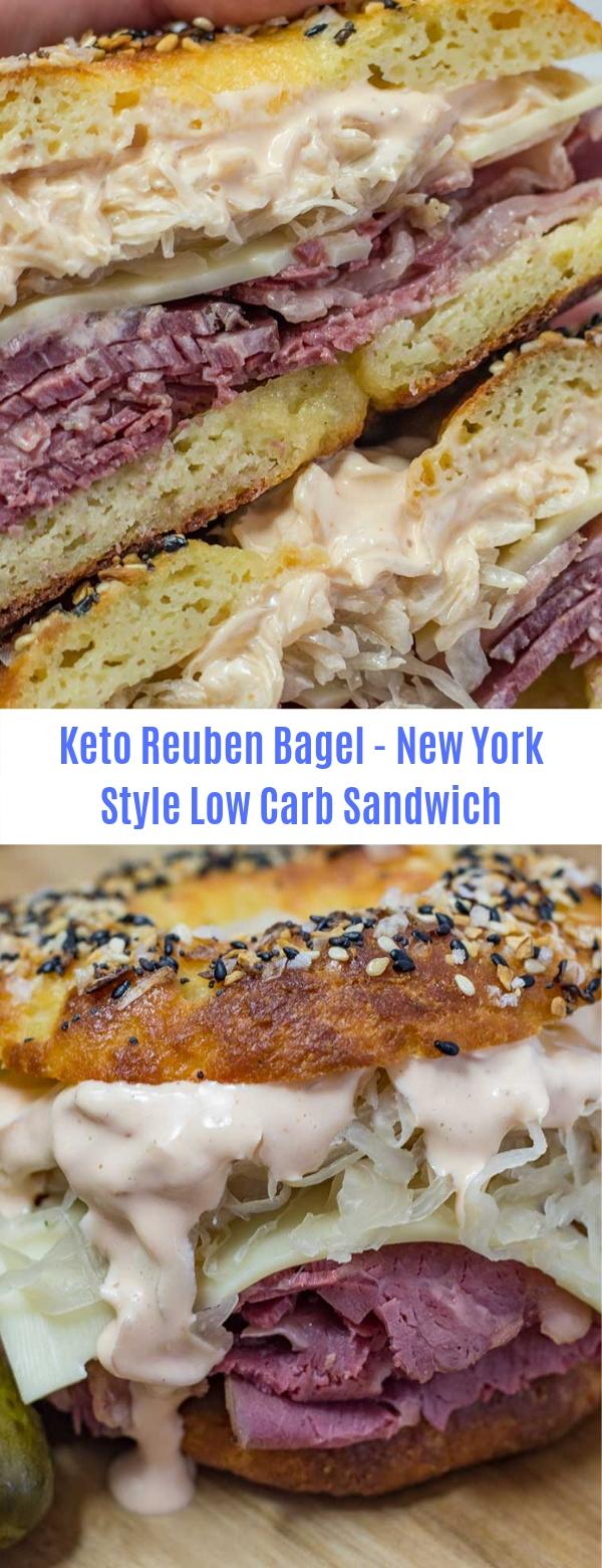 Keto Reuben Bagel - New York Style Low Carb Sandwich