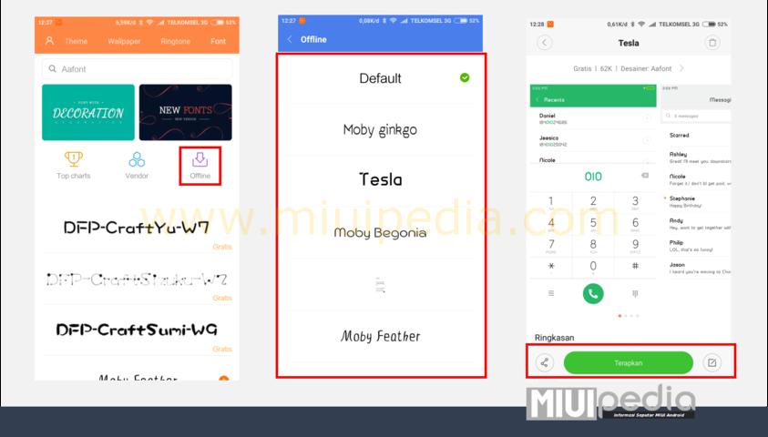 Begini cara gampang mengganti font Xiaomi tanpa root tanpa ribet