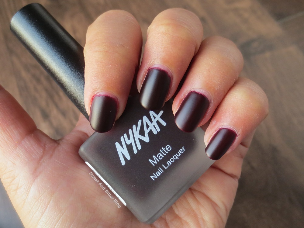 6 Nykaa Matte Nail Lacquer Swatch And Review Sweet And Bitter Blog