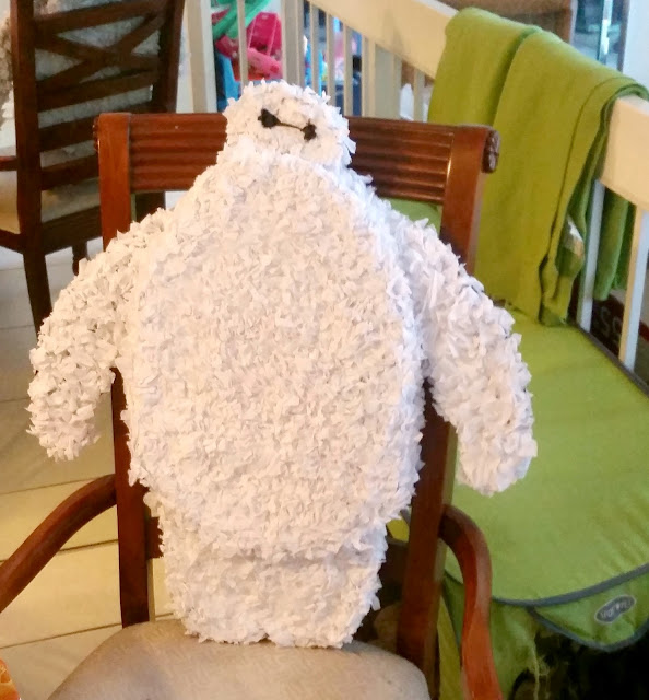 DIY Big Hero 6 Baymax piñata