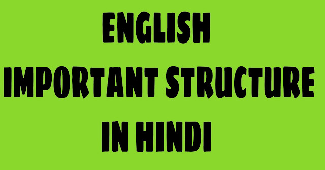 English Structure — English Speaking course in Hindi