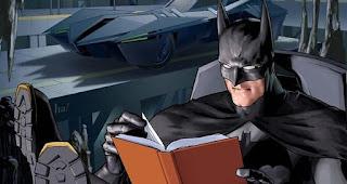 Batman lendo maior detetive comic