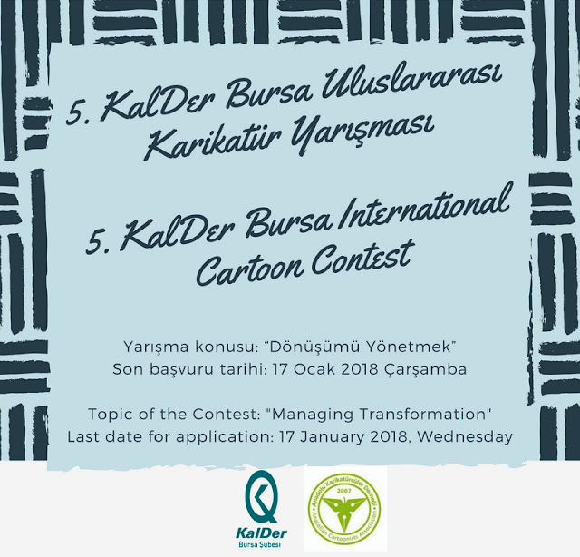 List of Participants of 5th KalDer Bursa International Cartoon Contest 2018, Turkey