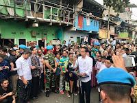 Wow Luarbiasa,  Pidato Kemenangan Capres 01 Jokowido Saat Berkunjung ke Kampung Deret