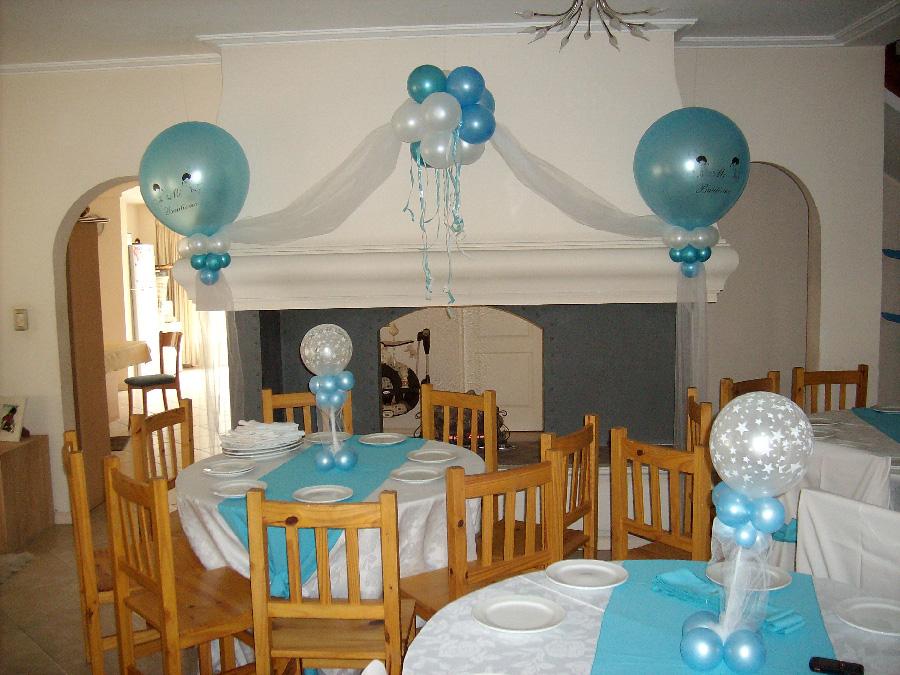 Decoracion con globos decoracion con globos bautismo y primera comuni n - Como decorar un salon para bautizo ...