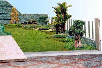 taman minimalis diktaman