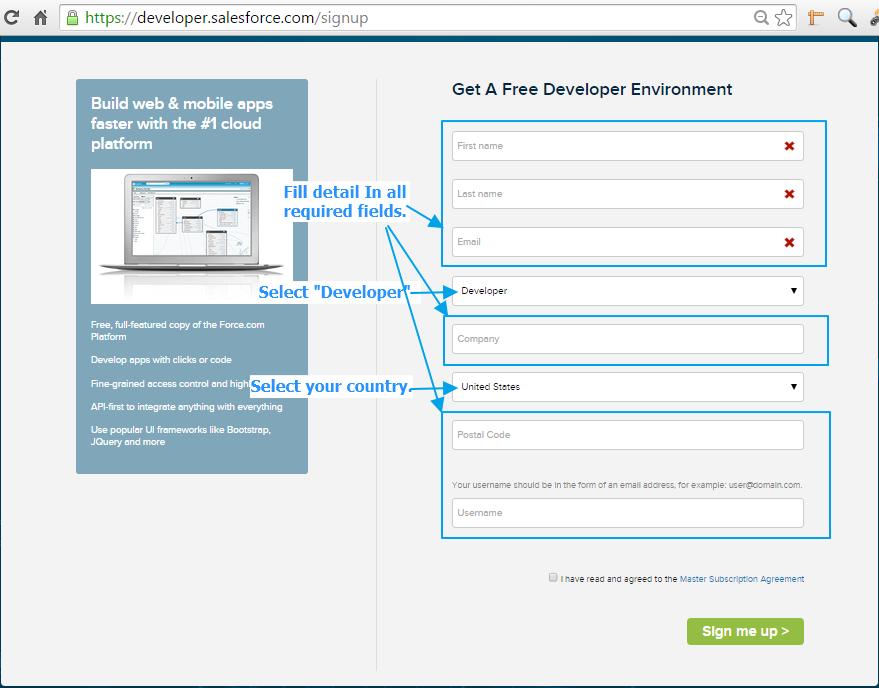 CRM Salesforce Tutorials: Create Account For SalesForce