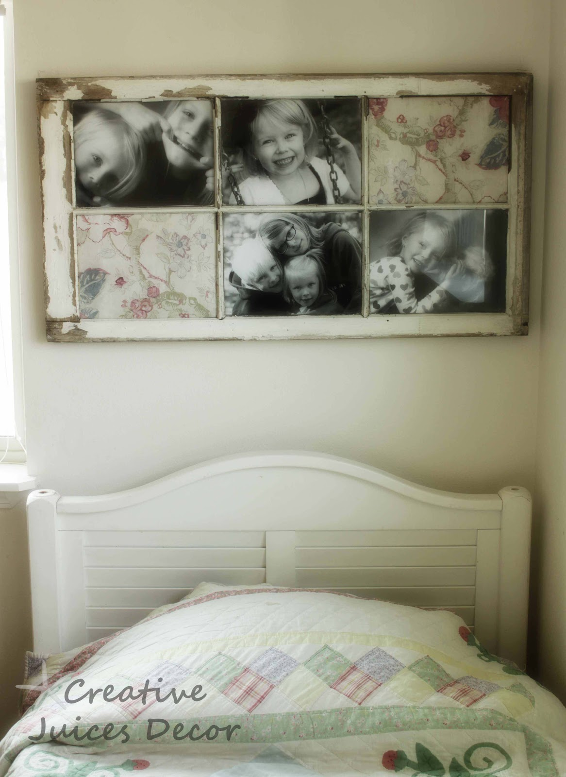 Repurposing A Window Frame Into A Picture Frame