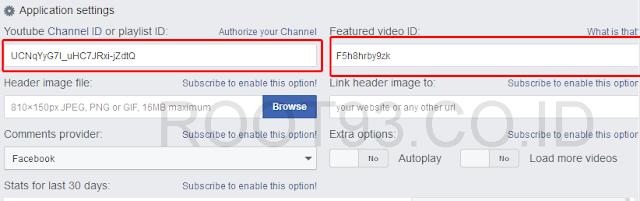 contoh konfigurasi app youtube tab