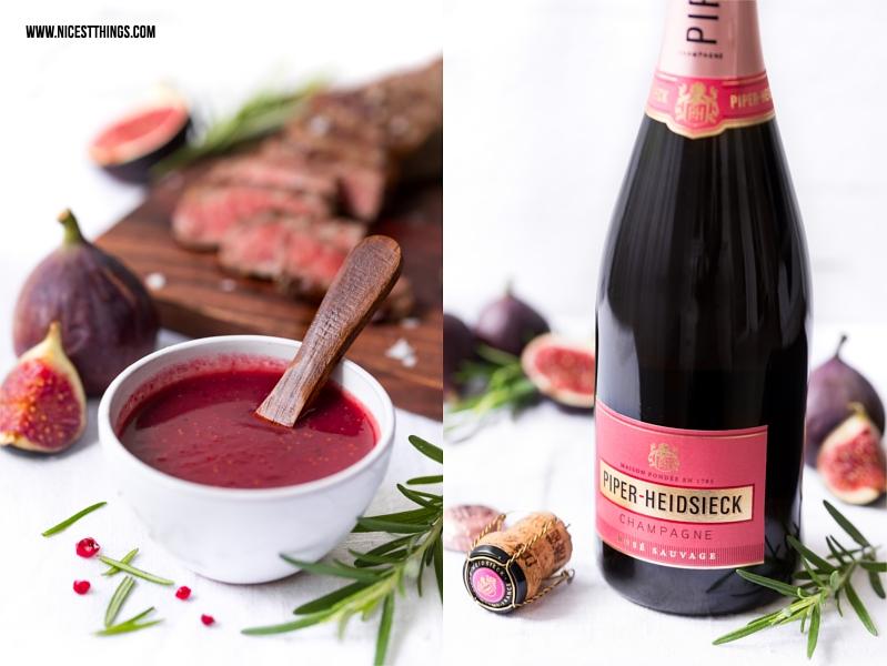 Feigen Champagner Sauce Dip Chutney mit Piper-Heidsieck