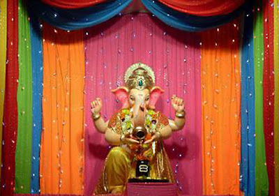 Ganpati bappa decoration Ideas/themes for home
