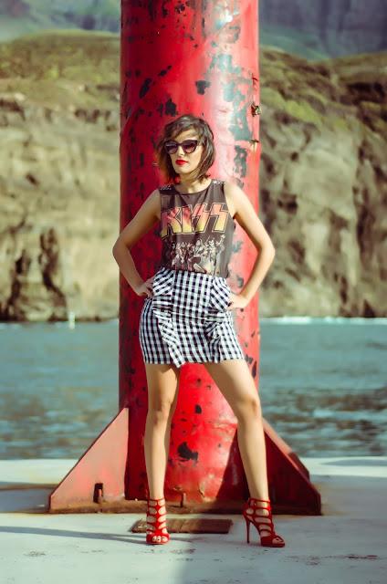 Gingham -Skirt- &- Grunge -Style